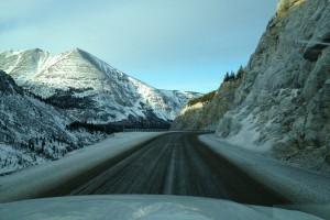 Driving the Alcan north in winter provides a seemingly endless stretch of empty roads as the miles tick by.