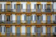A grid of windows in San Sebastian